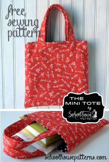 mini tote standing and flat