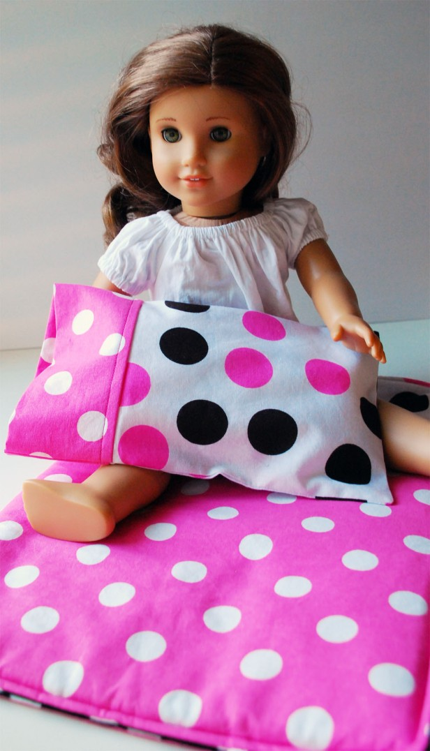 doll holding pillow