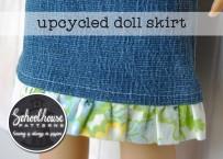 Upcycled Doll Skirt
