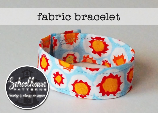 labeled fabric bracelet