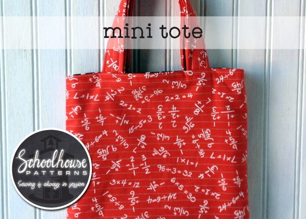 labeled mini tote wide