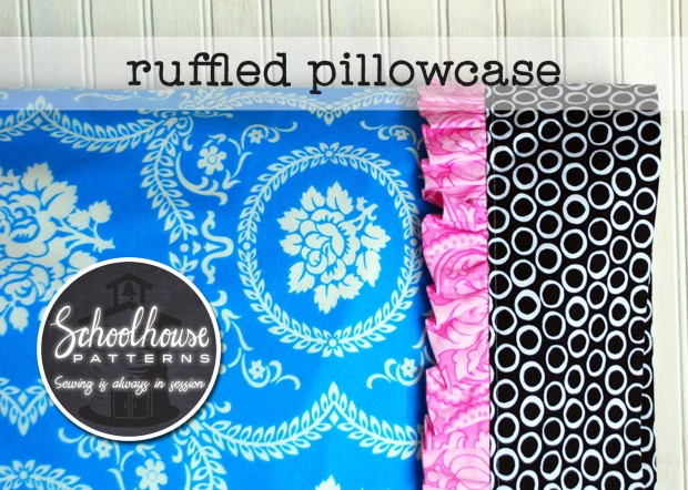 labeled ruffled pillowcase wide