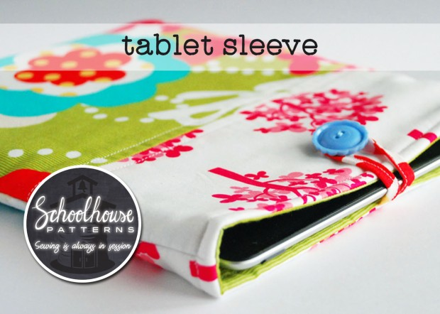 labeled tablet sleeve green wide